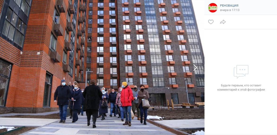 Будущим новоселам дома на Люблинской улице устроили экскурсию
