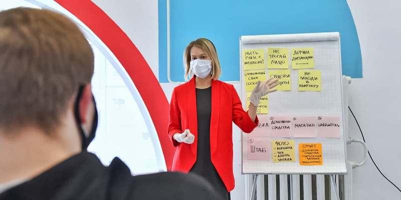 Волонтеры из разных регионов страны приехали в Москву на обучение